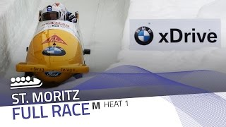 St. Moritz | BMW IBSF World Cup 2016/2017 - 4-Man Bobsleigh Heat 1 | IBSF Official