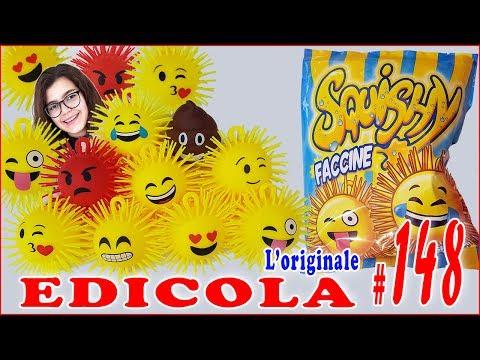 EDICOLA #148: SQUISHY FACCINE Apriamo 10 bustine (by Giulia Guerra) (видео)