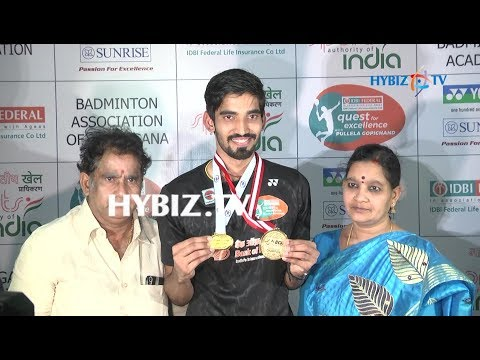 , Kidambi Srikanth Felicitated at Gopichand Academy