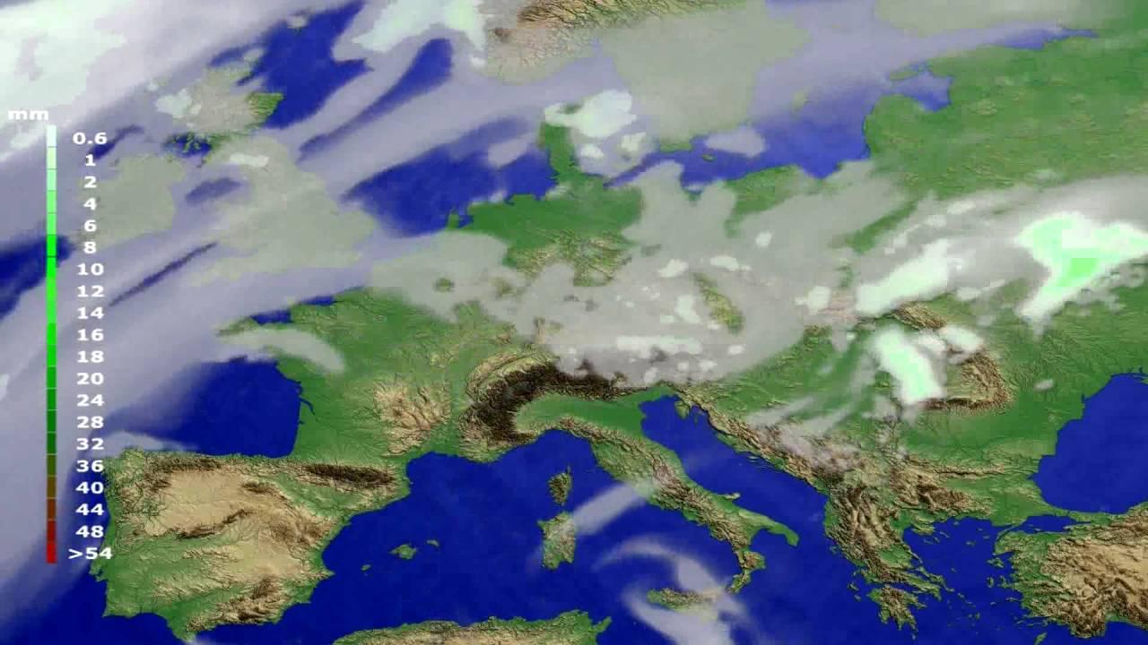 Precipitation forecast Europe 2016-06-19