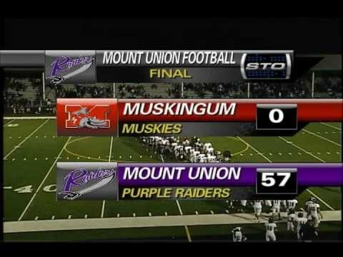 Mount Union - Muskingum Football Highlights (9/15/12)