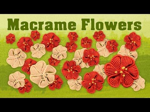 come creare dei fiorellini in macramè