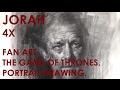 Demo Jorah Game Of Thrones  Art Of Charcoal Drawing By Zin Lim