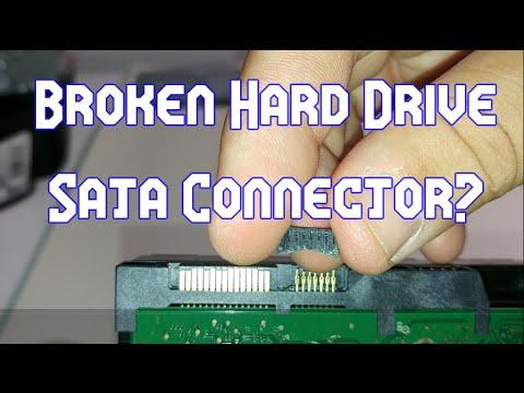 How to Fix a Broken Hard Drive Sata Connector