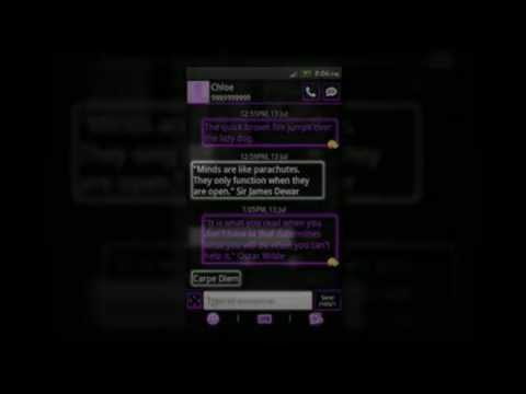 Video of GO SMS Theme Purple Neon