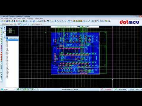 Hướng dẫn xuất file PDF từ mạch in trong Proteus - Thời lượng: 21 phút.
