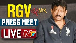 Ram Gopal Varma Press Meet LIVE | Lakshmi's NTR
