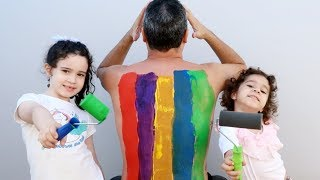 LEARN COLORS BODY PAINT FINGER FAMILY NURSERY RHYMES LEARNING KIDS VÍDEO - VÍDEO EDUCATIVO