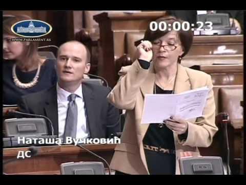 Наташа Вучковић, реплика министарки Зорани Михајловић
