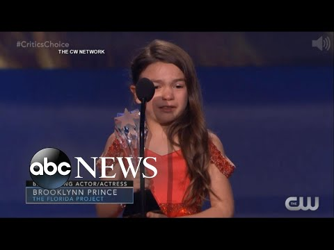 7-year-old adorably wins Critics' Choice award for 'The Florida Project'