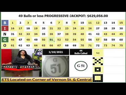 MEGA BINGO DRAW 01-16-2021...JACKPOT IS $629,056.00..ADS ARE MUTED TO AVOID COPYRIGHT INFRINGEMENT