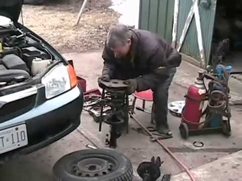 #873 strut replacement on a mazda protege [Davidsfarm]