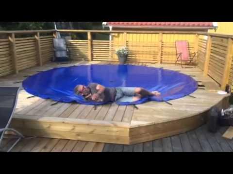 Runt poolskydd testas av kund