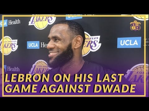 Video: Lakers Interview: LeBron Talks About his Last Matchup Against Dwyane Wade & Father Time