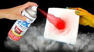 DRY ICE VS PAINT!!