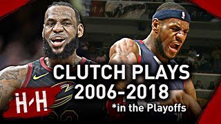 Download Video LeBron James Career EPIC CLUTCH Shots, Dunks, Blocks, Game-Winners in NBA Playoffs! (2006-2018) MP3 3GP MP4