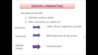 Umh1191 2013-14 Lec005 Fuentes Del Derecho Romano Justinianeo