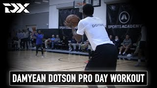 Damyean Dotson Pro Day Workout Video