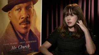 Britt Robertson Talks Eddie Murphy and Mr. Church Movie
