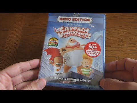 CAPTAIN UNDERPANTS - The First Epic Movie - Unboxing The Blu-ray + DVD + Digital HD
