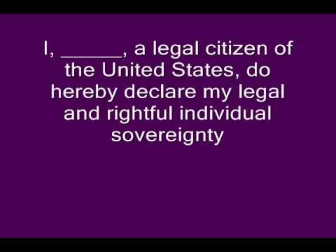 Declaring Individual Sovereignty Part II of II 0001