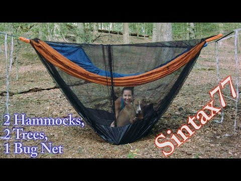 Two Hammocks One Bug Net Double Dutch And Birds Nest