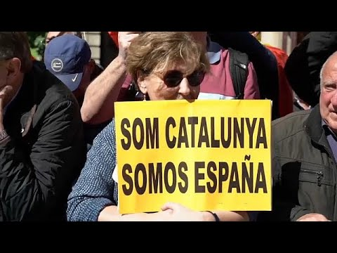 Barcelona: Demonstration für Spaniens Einheit
