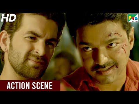 Neil Nitin Mukesh - Vijay Fight Scene   Khakhi Aur Khiladi - Climax Scene   Hindi Dubbed Movie