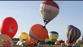 Sable-sur-Sarthe France  City new picture : on Fire ! Hot air Balloon accident ! Mongolfiere en feu !