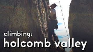 Climbing at Holcomb Valley: Tombstone shadow 5.10b   vlog 07 by  rockentry
