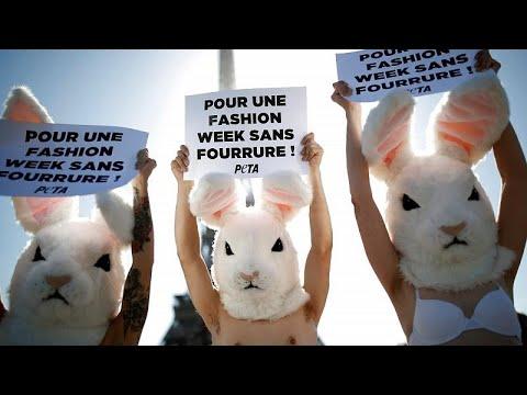 Pariser Modewoche: Peta-Aktivisten fordern pelzfreie  ...