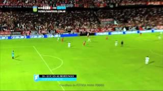 Gol de Albertengo. Newell's 0 - Independiente 2