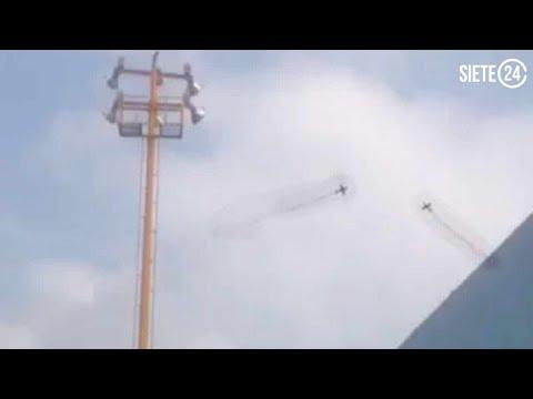 Chocan avionetas militares en Tecámac