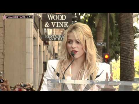 Shakira Isabel Mebarak Ripoll Walk of Fame Ceremony
