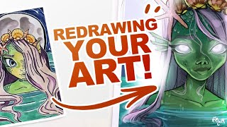 Video Redrawing YOUR art in my Style! | #drawthisinyourstyle MP3, 3GP, MP4, WEBM, AVI, FLV Juli 2019