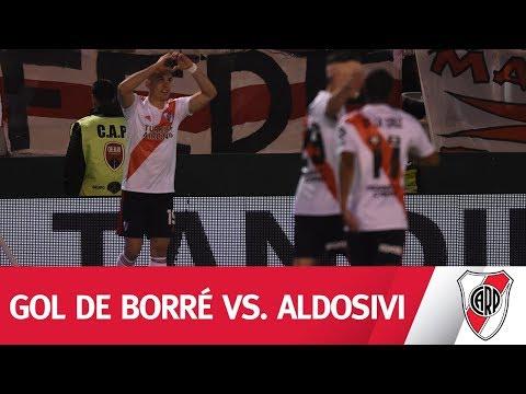 ¡MANO A MANO Y FESTEJO! El segundo gol de River vs. Aldosivi en manos de Borré