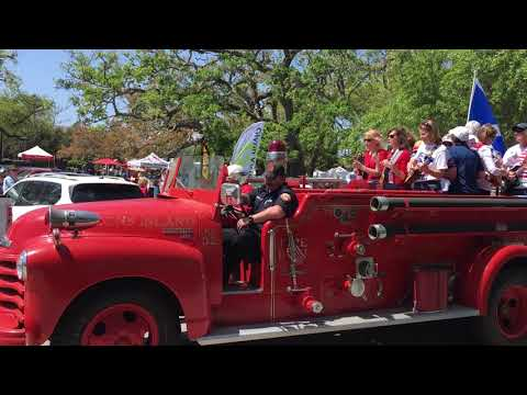Patriots Day parade on St. Simons Island