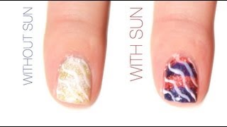 4th of July Color-Changing Nail Art Design