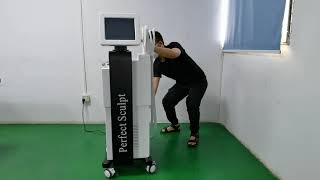 Perfect Sculpt Hiemt EMS Sculpting Build Muscle and Burn Fat Electromagnetic Body Shaping Machine youtube video