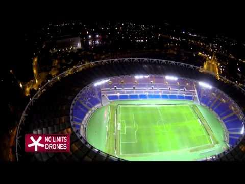 stadio olimpico di roma, visto dall'alto con un drone