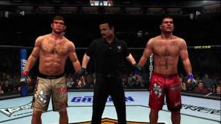 UFC 09 UNDISPUTED Xbox live player match Forrest Griffin Vs Michael Bisping HD