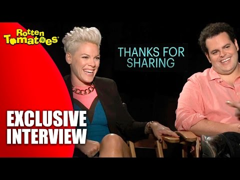 Pink and Josh Gad - Exclusive 'Thanks for Sharing' Interview (2013)