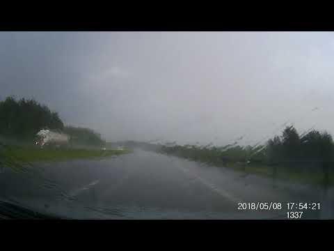 Wypadek Tarnów deszcz autostrada 08.05.2018