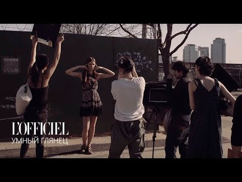 Backstage съемки fashion story с Ириной Кравченко. L'Officiel Украина Июль-Август 2015