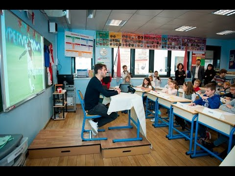 Bernardo Silva à l'école Saint-Charles - AS MONACO