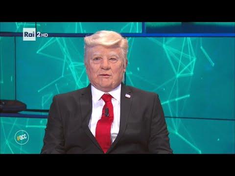 max giusti e nicola savino - intervista a donald trump