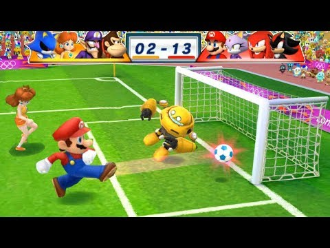 Mario & Sonic At The London 2012 Olympic Games Football #184 Mario, Blaze, Knuckles, Shadow