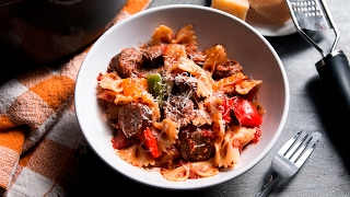 One-Pot Sausage And Peppers Pasta by Tasty