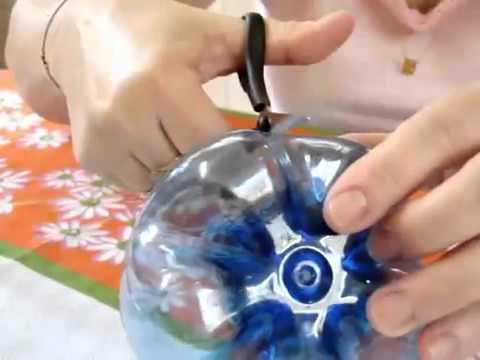 Как пошагово сделать лягушку из пластиковых бутылок своими руками пошагово