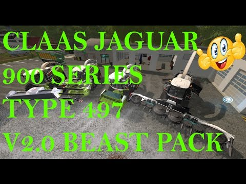 Claas Jaguar 900 Series Type 497 v2.0 Beast Pack
